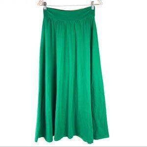 New York & Company Green Maxi Skirt